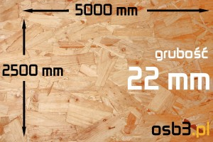 Płyta OSB3 sp 22mm/2500x5000